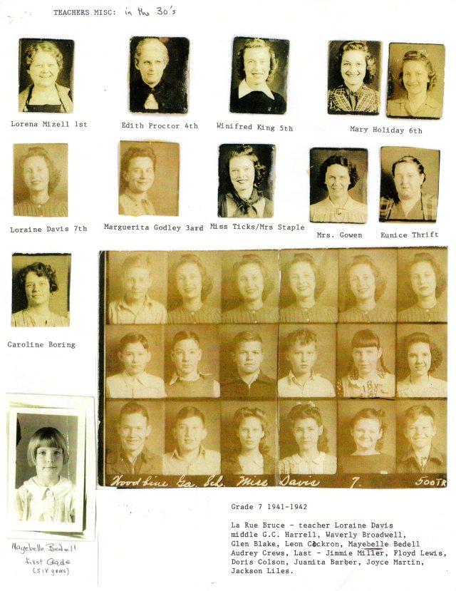 1930's Teachers, Grade 7, 1941-42
