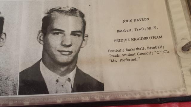 Freddie Higgenbothom, class of 1958